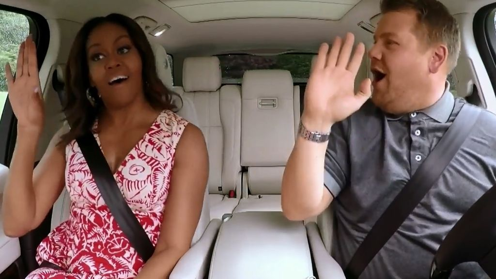 Michelle Obama se atreve con el 'Single ladies' de Beyoncé en  'Carpool karaoke'