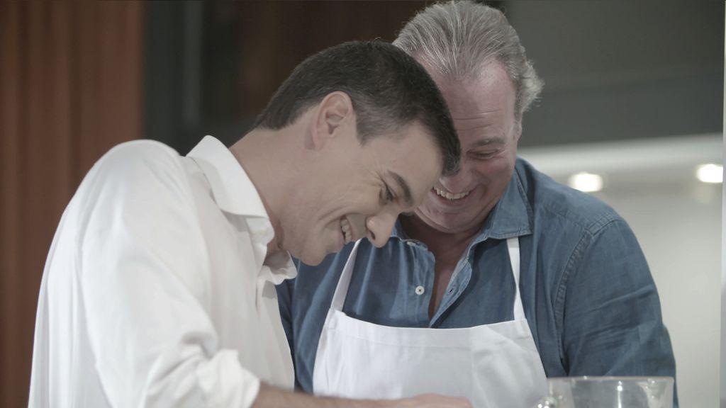 Pedro Sánchez y Bertín Osborne en 'En la tuya o en la mía'