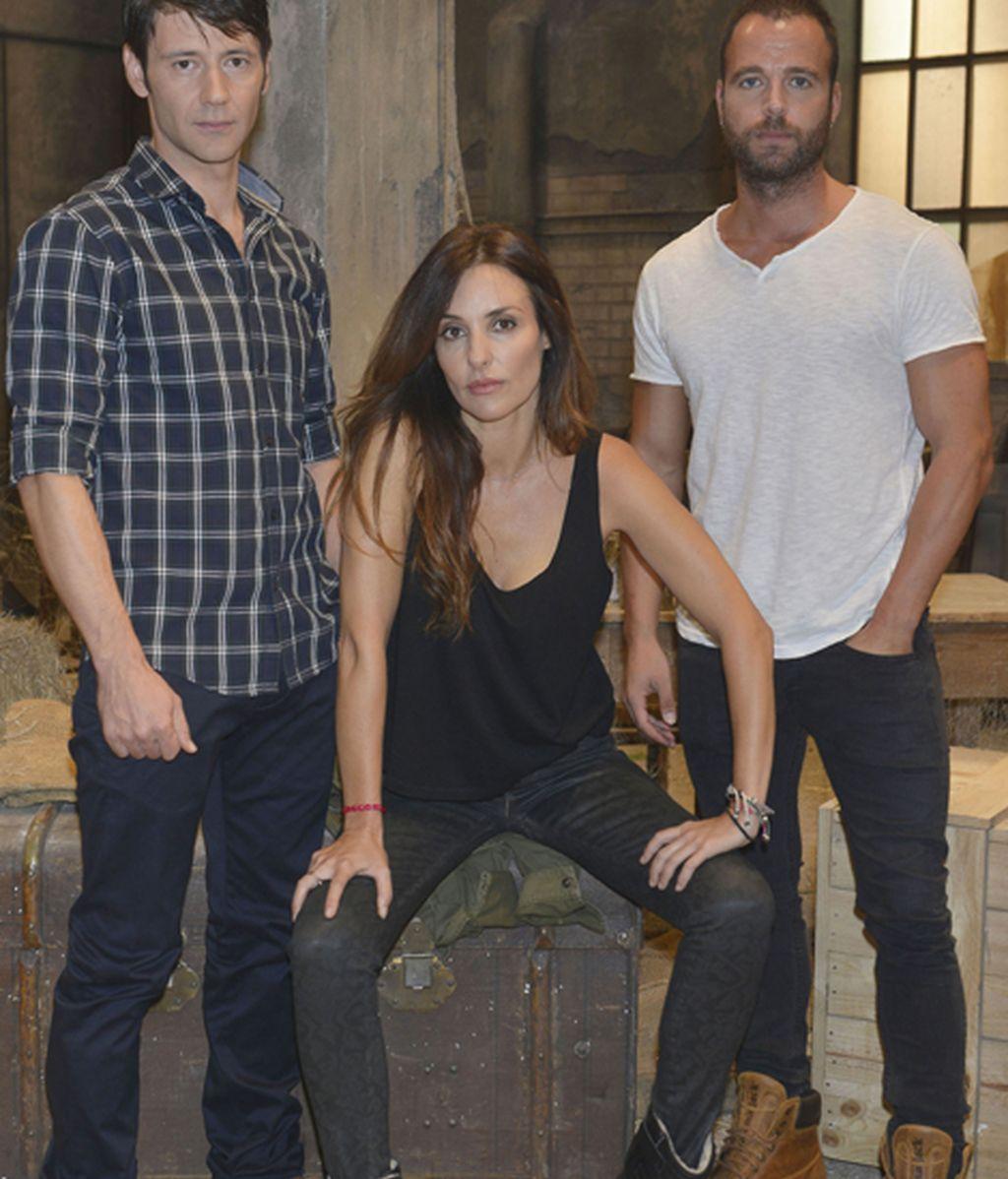 Fran Nortes (Diego), Patricia Vico (Marta) y Carles Francino (Suso)
