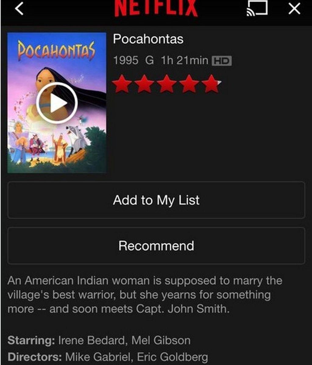Pocahontas sinopsis
