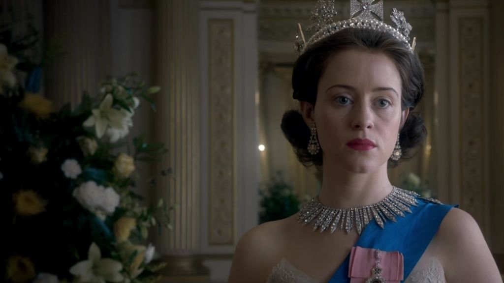 """La corona debe ganar"" en 'The crown'"