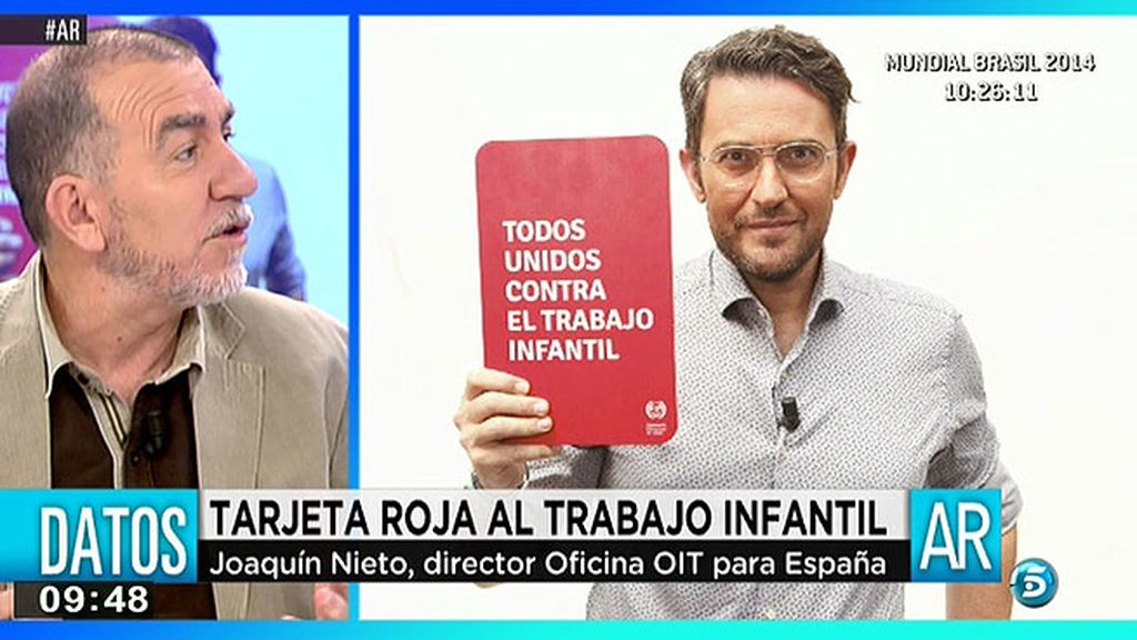 """Joaquín Nieto: """"Para retirar a los niños de la vida laboral es fundamental invertir en protección social y educación"""""""