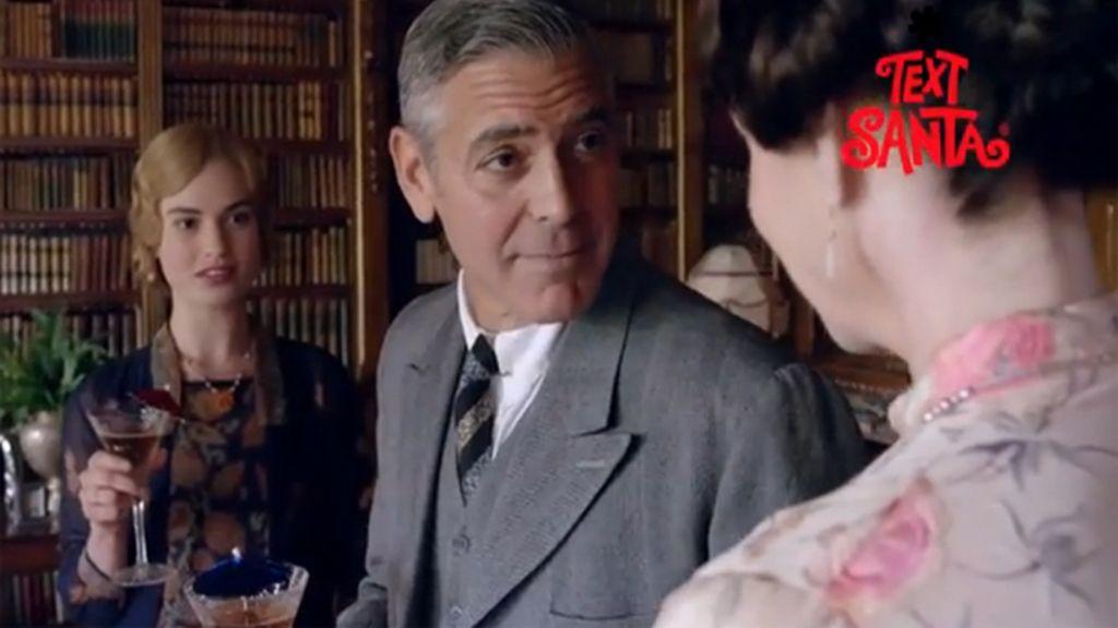 George Clooney visita 'Downton Abbey' por caridad