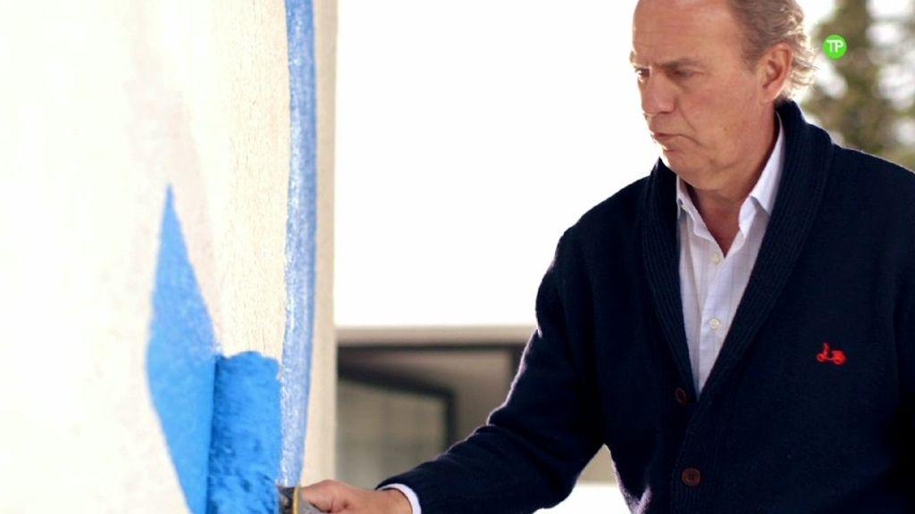 Bertín Osborne pinta su casa de azul Telecinco