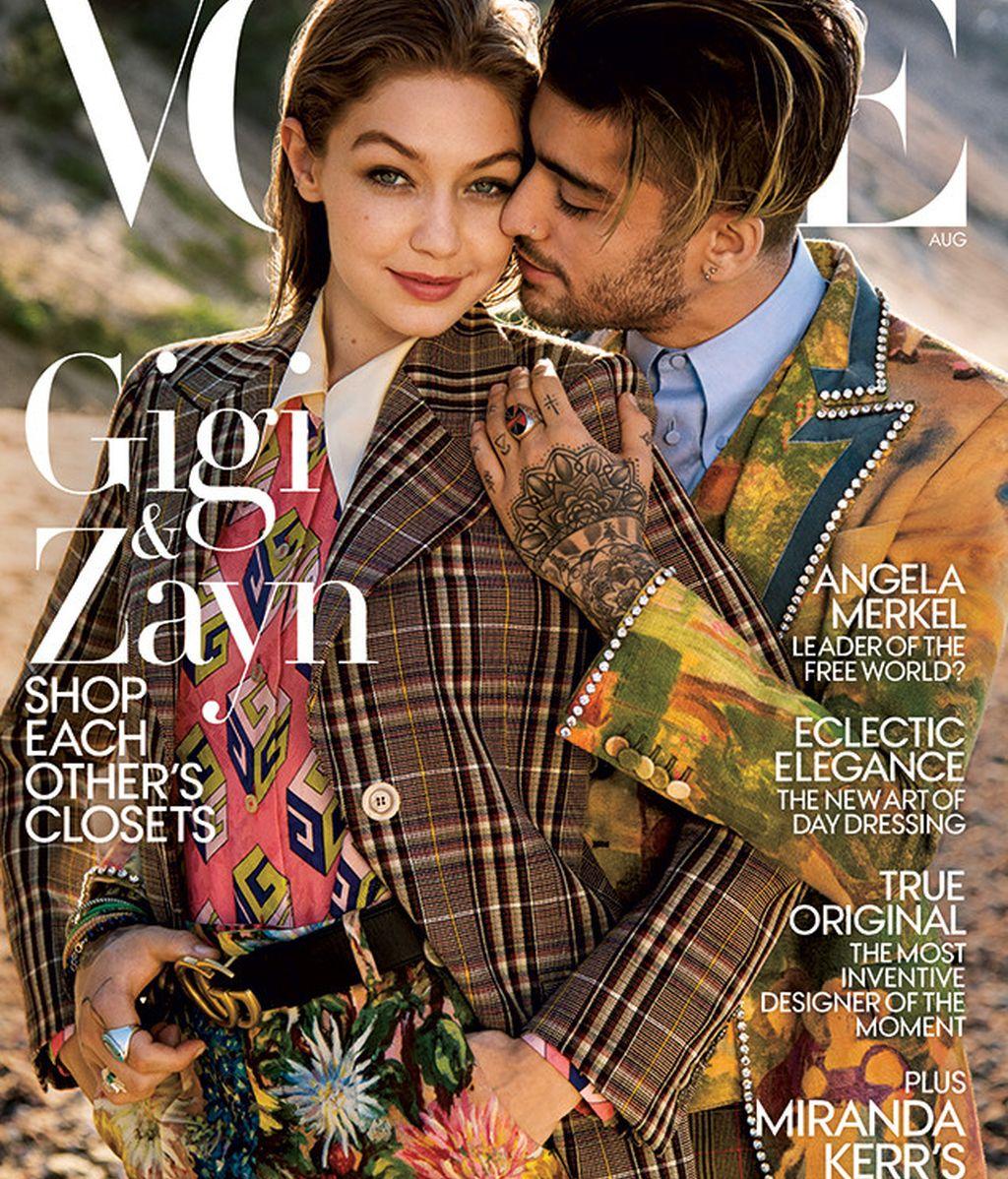 Gigi Hadid y Zayn Malik, en la portada de 'Vogue'