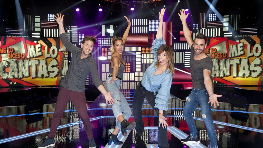 Iban Velacoracho, Corina Randazzo, Belinda Washington y David Carrillo forman el equipo de Santi Millán en 'Me lo dices o me lo cantas' en Telecinco
