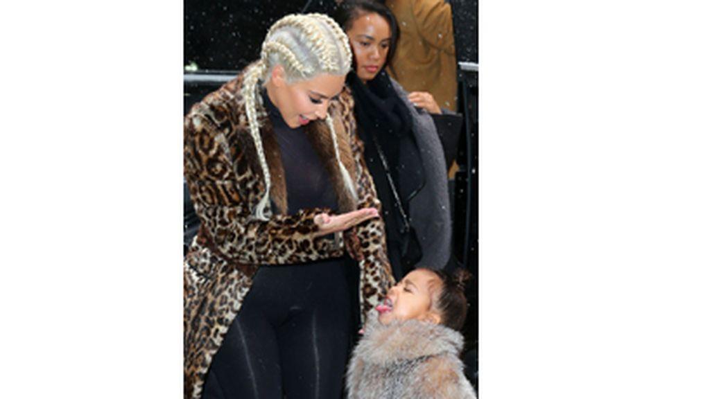 Kim Kardashian y su hija