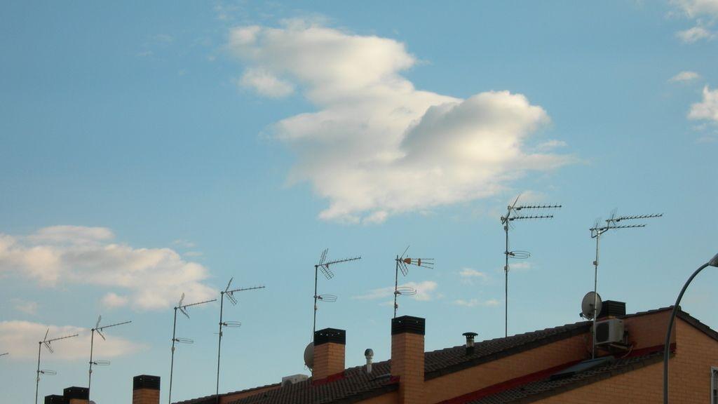 Tejados con antenas