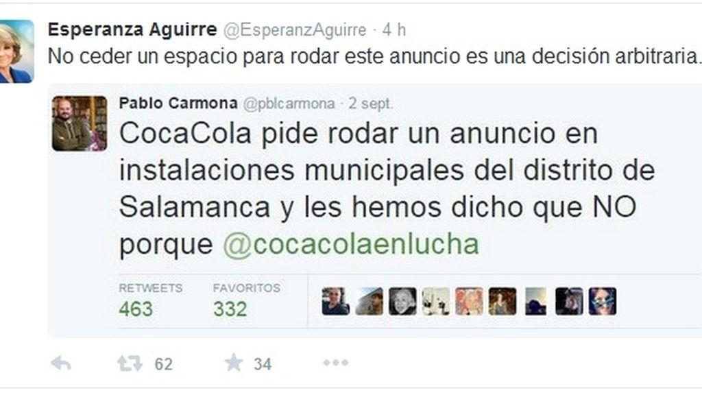 Tuit Esperanza Aguirre