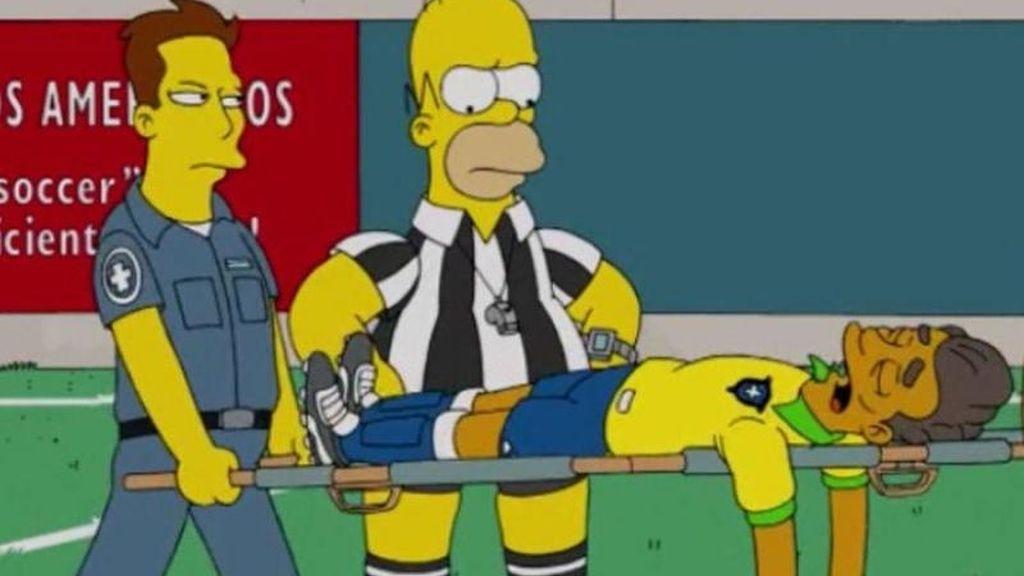 'Los Simpson' lesión Neymar