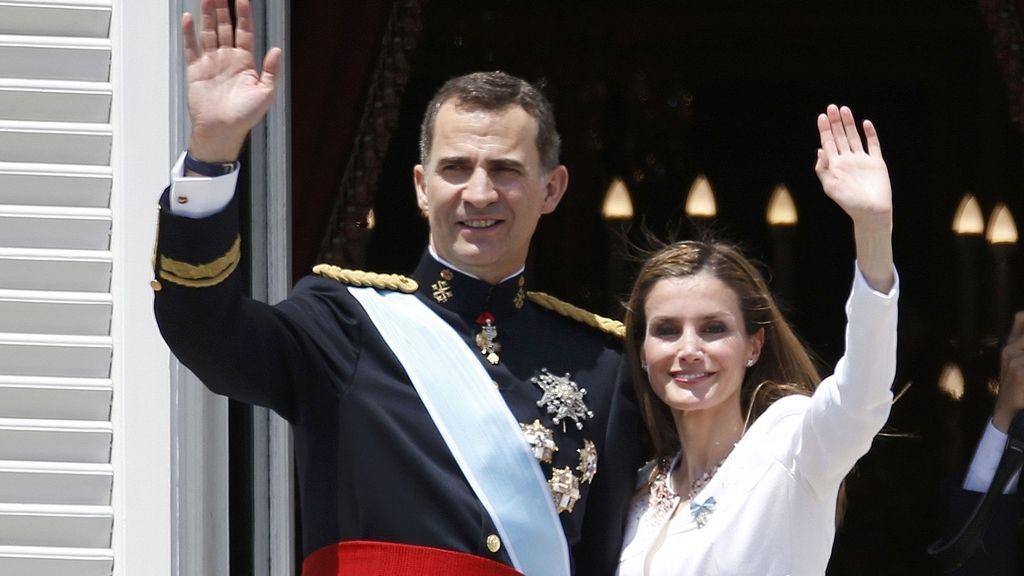 Felipe y Letizia en el balcón