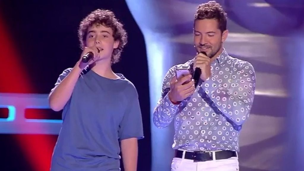 David Bisbal encuentra a su 'mini-yo' en 'La voz kids'