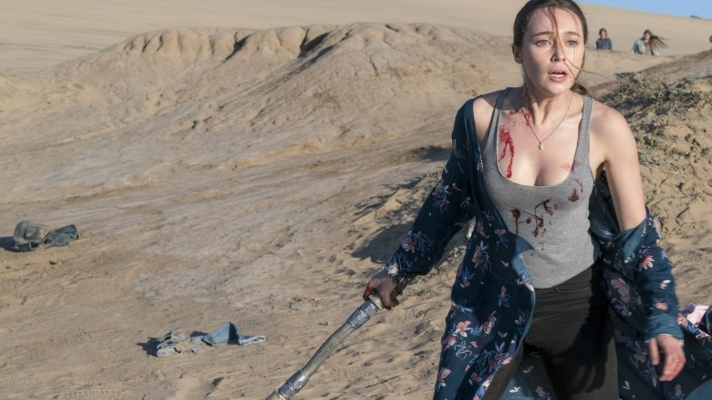 Huida desesperada en 'Fear the walking dead'
