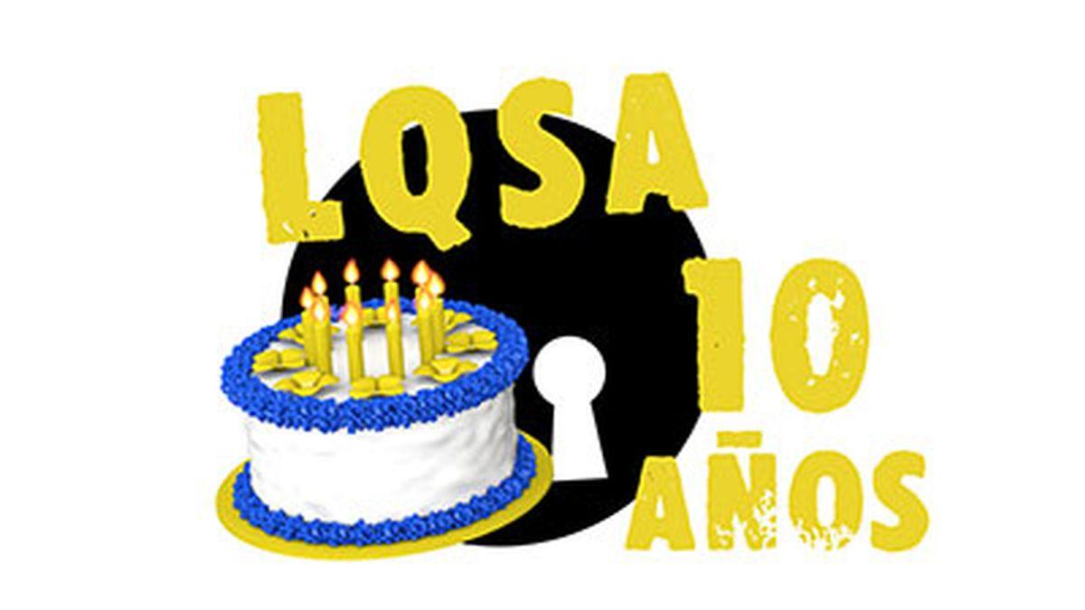 Logo décimo aniversario LQSA