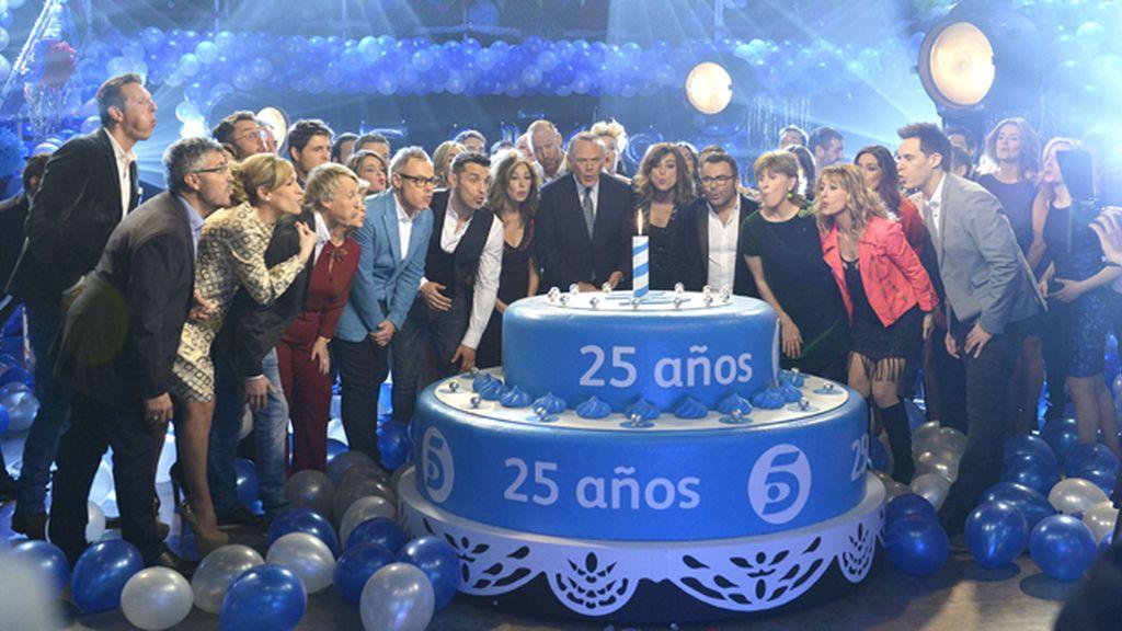 """Telecinco """"cada año brilla más"""""""