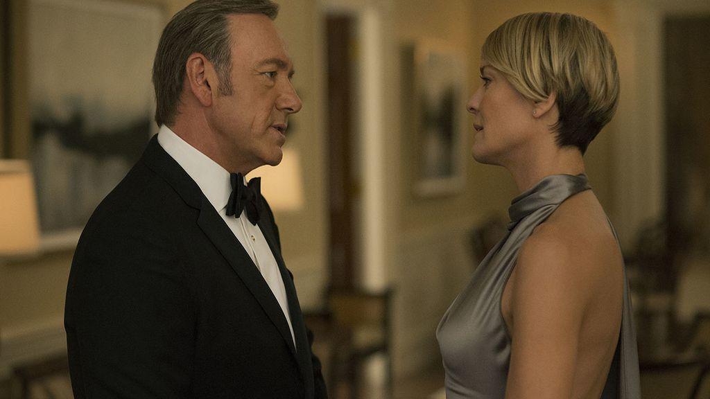 Kevin Spacey y Robin Wright son Frank Underwood y Claire Underwood en la serie de Netflix 'House of cards'