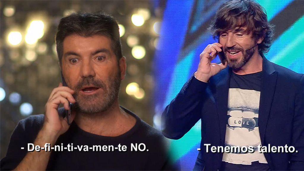 Got talent, Simon Cowell y Santi Millán