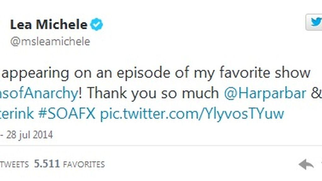 Twitter Lea Michele