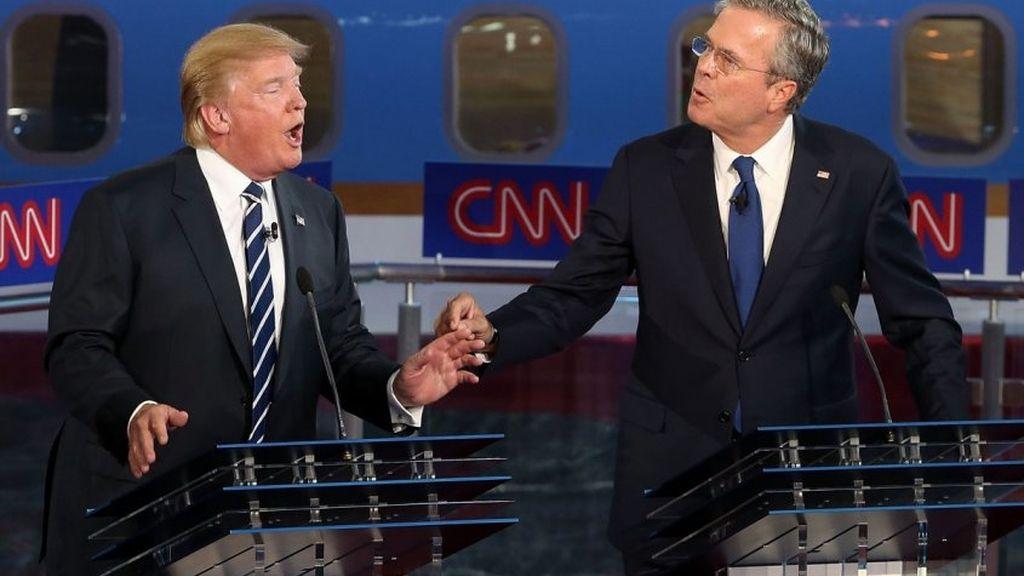 Donal Trump y Bush