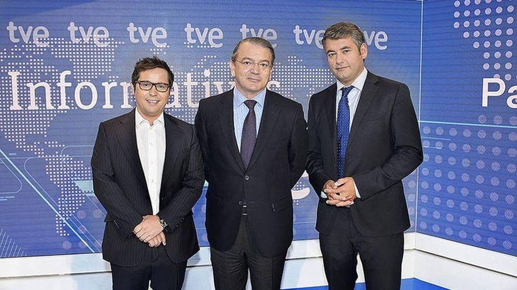 José Ramón Díez, director de TVE, y Julio Somoano