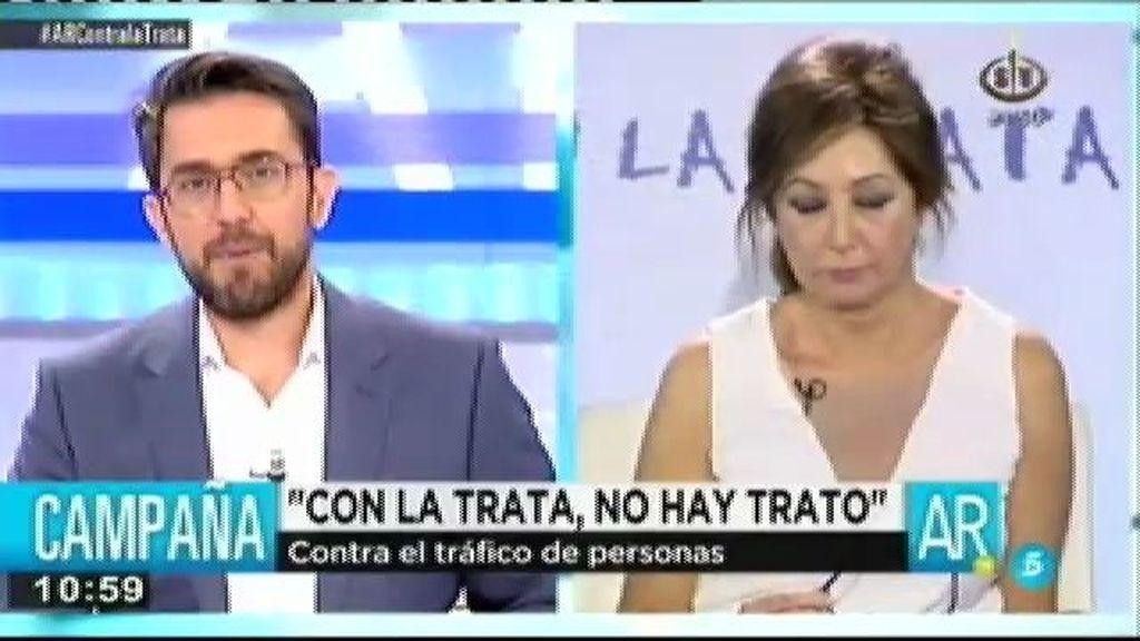 Ignacio Cosidó, José Nieto y Rocío Mora en la presentación de la campaña