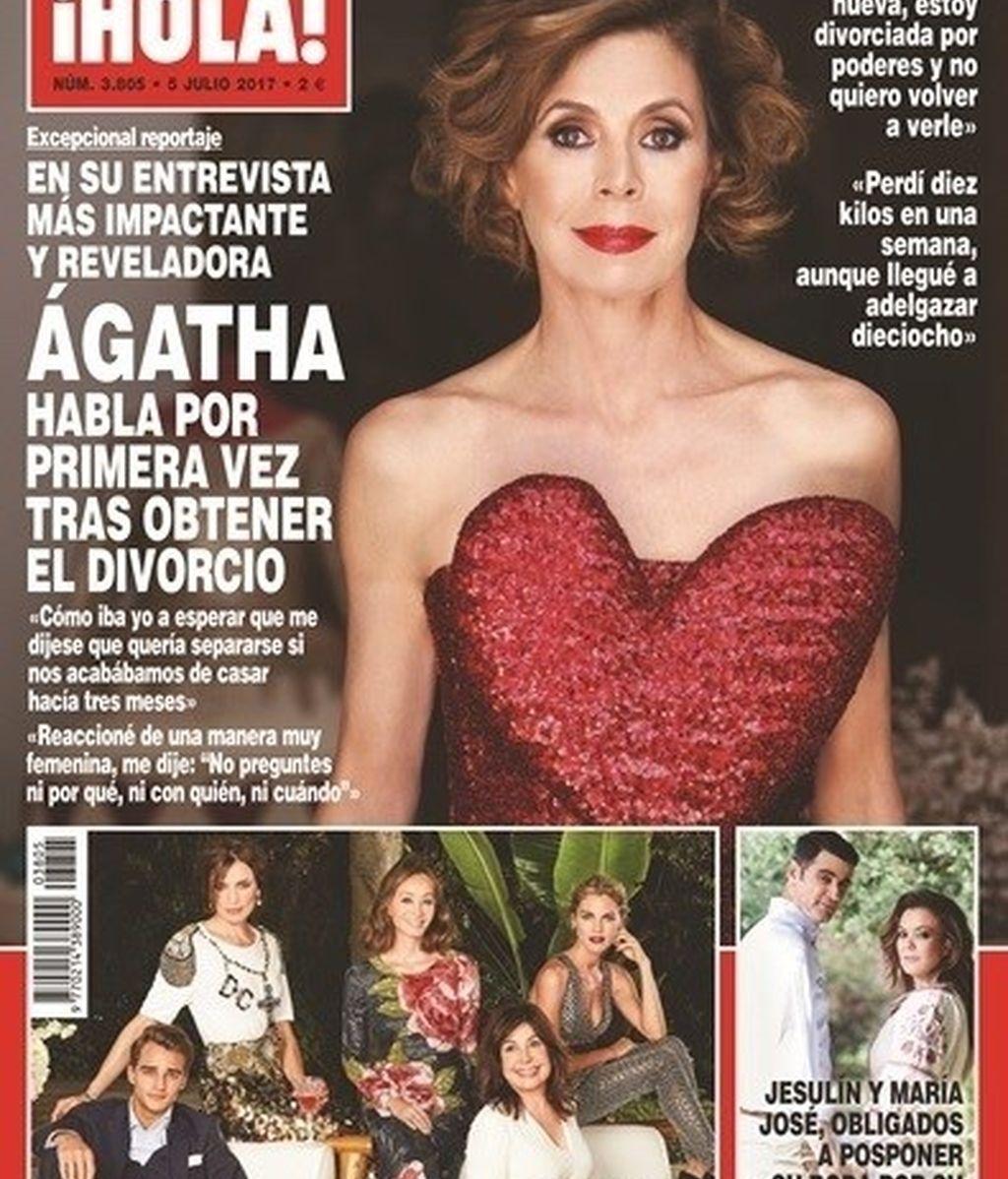 Ágatha Ruiz de la Prada, portada de '¡Hola!'