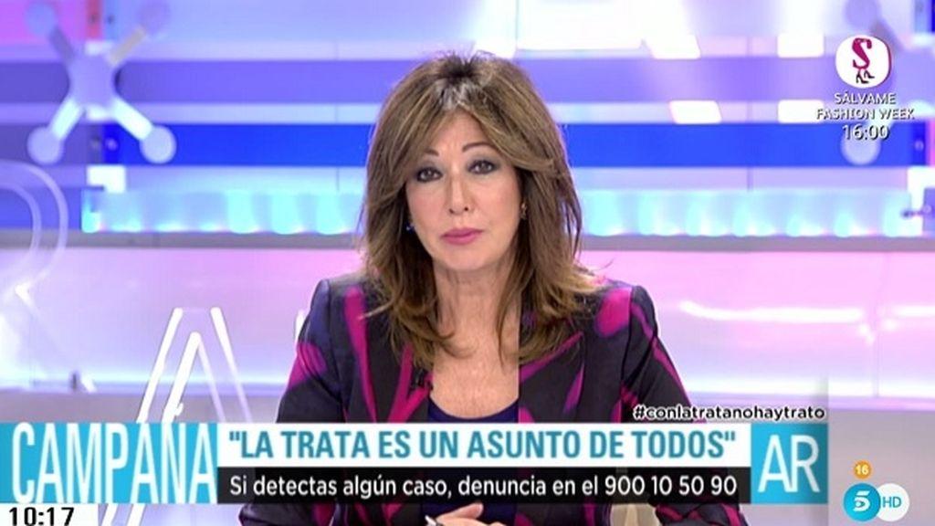 La segunda fase de 'Con la trata no hay trato' comienza en El programa de Ana Rosa