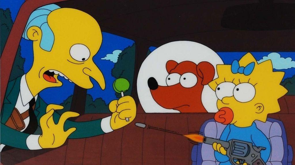 Por qué son amarillos y otras 29 curiosidades sobre 'Los Simpson' - Un episodio-concurso (Maggie en '¿Quién disparó al Sr. Burns?')