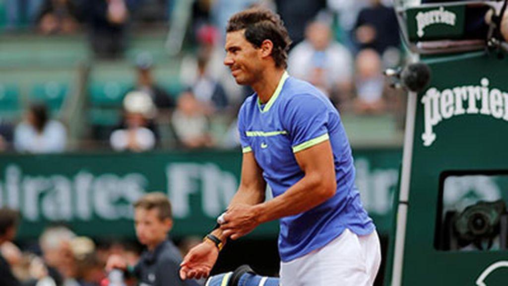 El tenista Rafa Nadal en Roland Garros