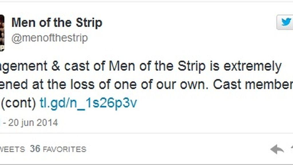 Tuit muerte Nate Estimada 'Men of the strip'