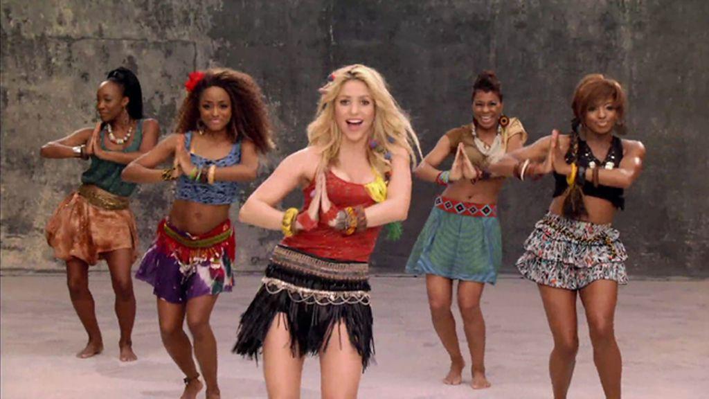 Shakira. 'Waka waka'.  150.000.000 visitas