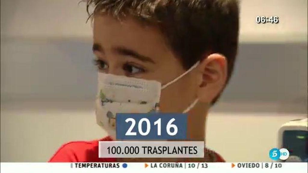España lidera el ranking con 100.000 trasplantes de órganos
