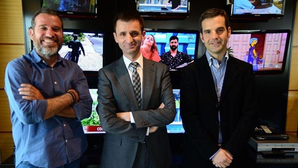 Jaime García Treceño, José Pablo López y Jon Ariztimuño en Telemadrid