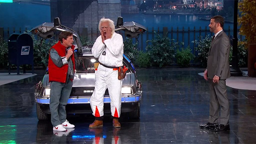 Marty McFly y Doc Brown descubren 2015 en el programa de Jimmy Kimmel