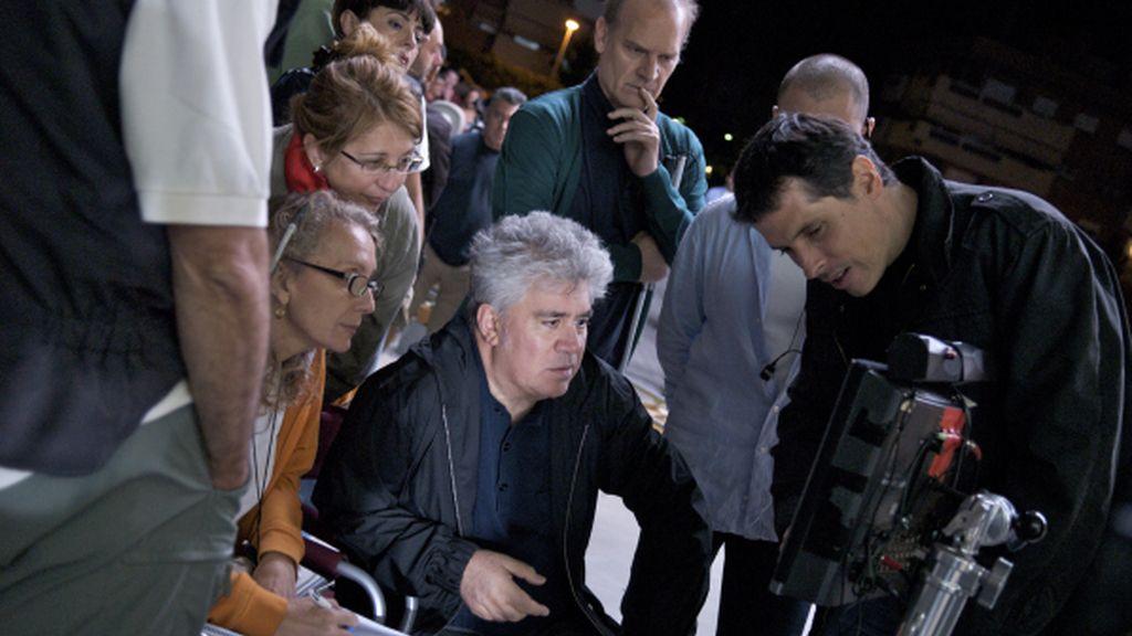 Pedro Almodóvar en el rodaje de 'Los abrazos rotos'
