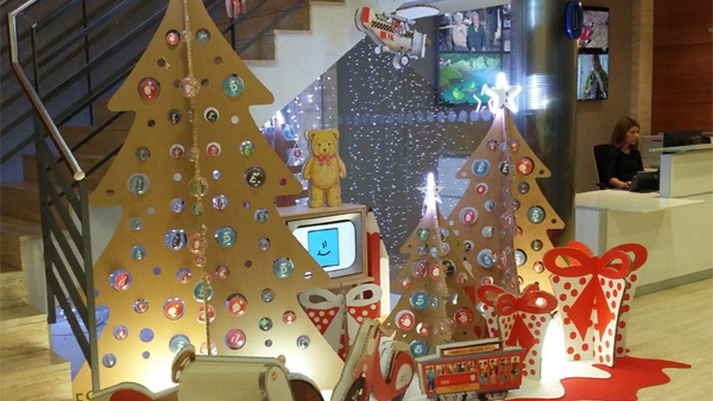 Decoración navideña en Mediaset de 2015