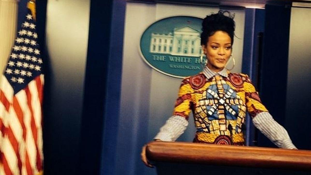 Rihanna se cuela en la casa blanca