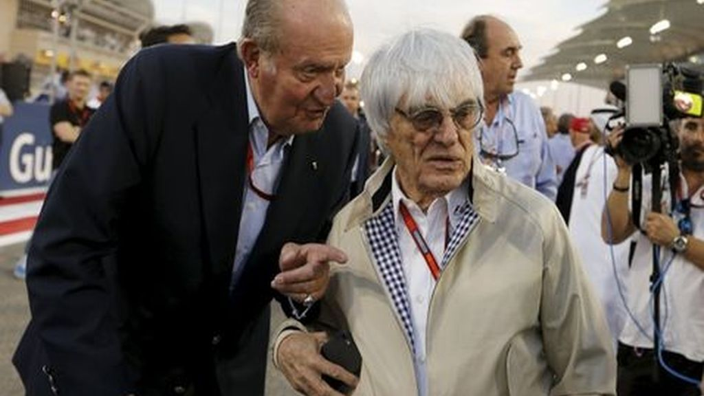 Bernie Ecclestone y el rey Juan Carlos