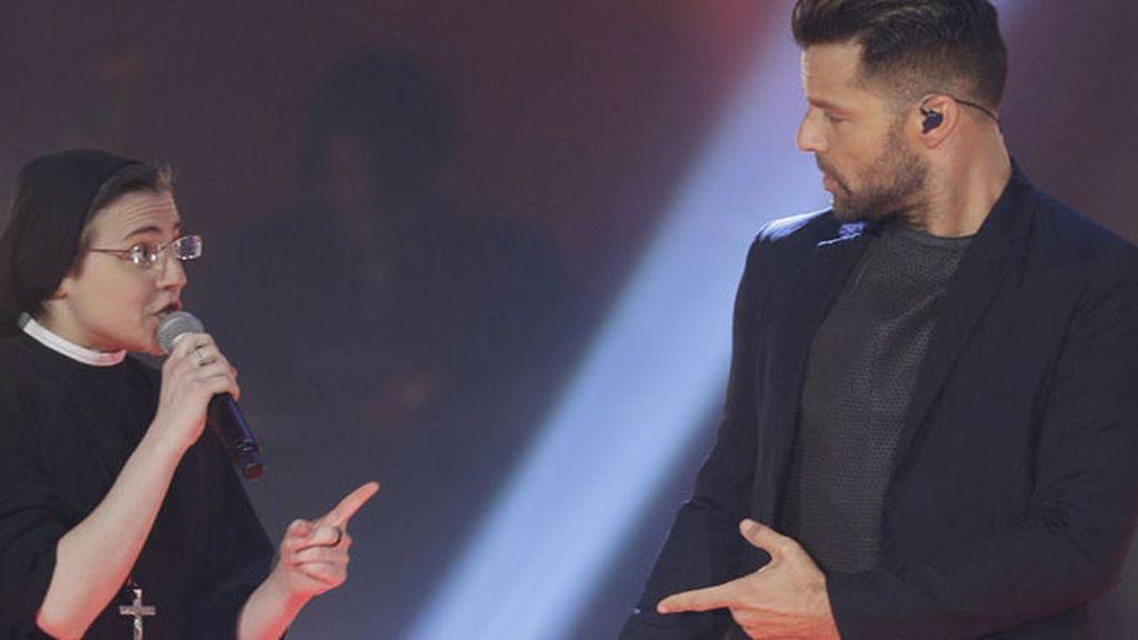 Sor Cristina llega a la final de 'La Voz' de Italia de la mano de Ricky Martin