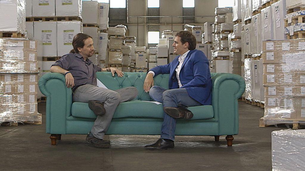 """Pablo Iglesias y Albert Rivera, dos políticos que no quieren perder """"ni a las chapas"""""""