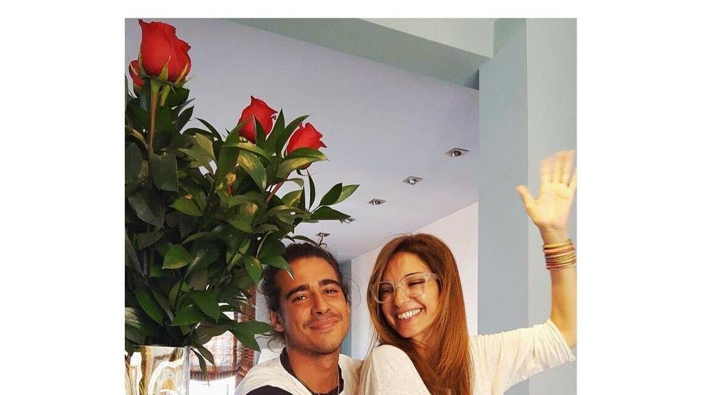 Mariló Montero y su hijo