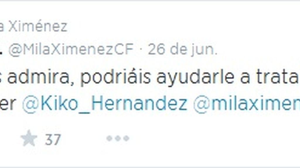 Tuit Mila Ximenez #freeYuyee