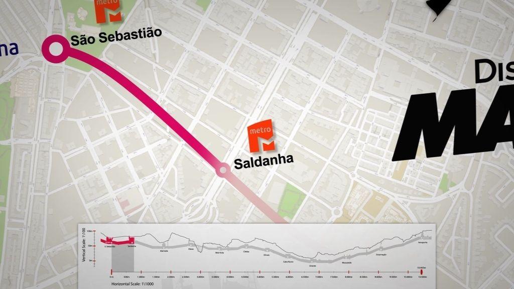 Diez kilómetros de carrera por la línea roja del Metro de Lisboa