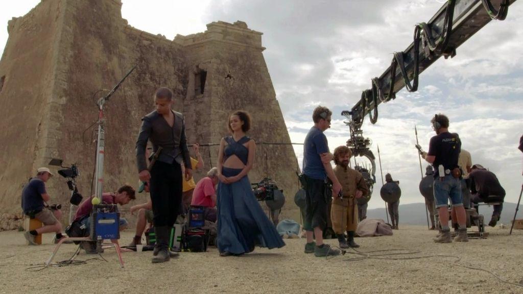 Actores y productores de 'Juego de tronos' celebran su rodaje en España