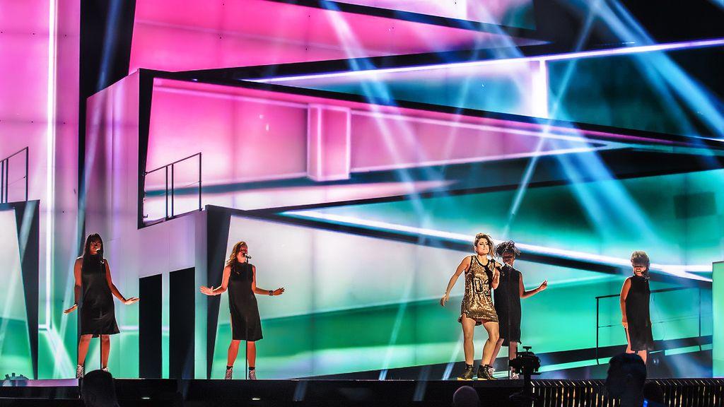 Barei. Tercer ensayo de Eurovisión