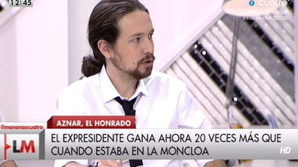 Pablo Iglesias, 'Las mañanas de Cuatro'