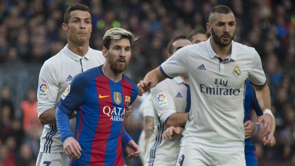Lionel Messi, Cristiano Ronaldo y Karim Benzema