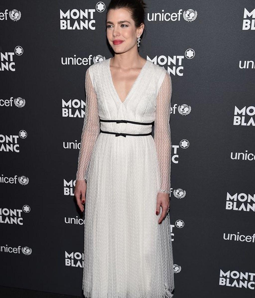 Carlota Casiraghi en la gala Unicef Montblanc 2017, en Nueva York
