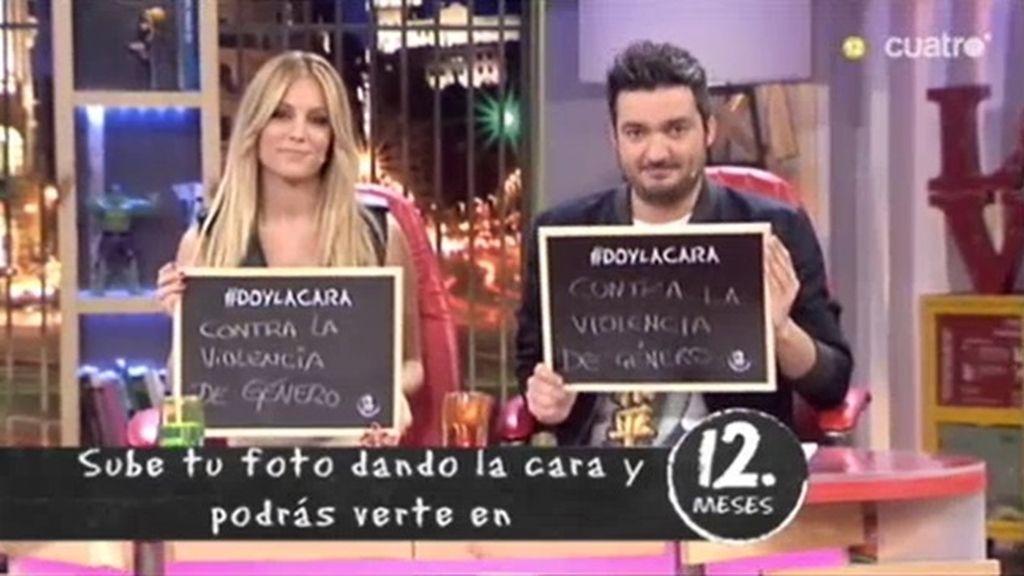 Edurne y Xavi Rodríguez dan la cara contra la violencia de género