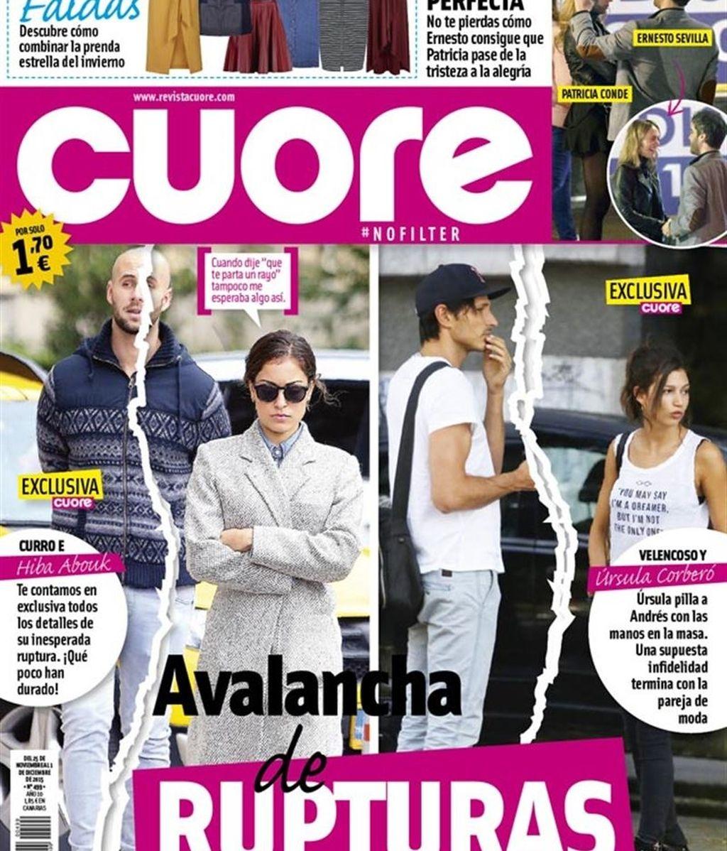 Portada de Cuore: Hiba Abouk y Curro / Andrés Velencoso y Úrsula Corberó